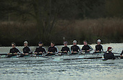 18/12/2002.Sport - Rowing.2003 Women's Boat Race.Cambridge Womens Boat Club Trail Eights Henley Reach