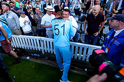 Jonny Bairstow of England celebrates winning the ICC Cricket World Cup - Mandatory by-line: Robbie Stephenson/JMP - 14/07/2019 - CRICKET - Lords - London, England - England v New Zealand - ICC Cricket World Cup 2019 - Final