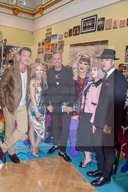 Luke Evans, Kylie Minogue, Fat Tony, Jodie Harsh, Kelly Osbourne and Jimmy Q at The Royal Academy of Arts Summer Exhibition Preview Party 2019, Burlington House, Piccadilly, London England. 04 June 2019.