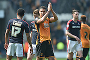 Jake Livermore at the end of the Sky Bet Championship match between Hull City and Rotherham United at the KC Stadium, Kingston upon Hull, England on 7 May 2016. Photo by Ian Lyall.