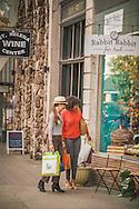 Shopping on Main Street, St Helena, Napa Valley California