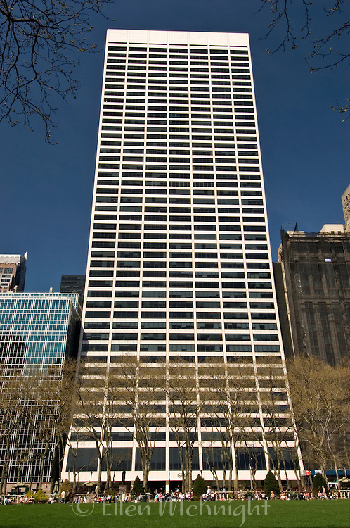 W.R. Grace Building at 1114 Avenue of the Americas as seen from Bryant Park in Manhattan