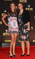 Heather Stanning and Helen Glover arriving at the BBC Sports Personality of the Year awards in London, Sunday, 16th December 2012.  Photo by: Stephen Lock / i-Images