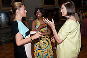 SUSAN BURNS; SILAJA SUNTHARANLMJUM; CLAIRE LIVINGSTONE, Tate Britain Summer party. Tate. Millbank. 27 June 2011. <br /> <br />  , -DO NOT ARCHIVE-© Copyright Photograph by Dafydd Jones. 248 Clapham Rd. London SW9 0PZ. Tel 0207 820 0771. www.dafjones.com.