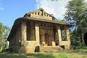 Africa, Ethiopia, Gondar The Royal Enclosure Church of Debre Birhan Selassie Exterior