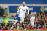 Swansea City midfielder Gylfi Sigurdsson  during the Barclays Premier League match between Everton and Swansea City at Goodison Park, Liverpool, England on 24 January 2016. Photo by Simon Davies.