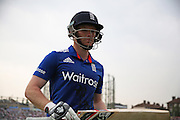 England Eoin Morgan out for 88 during the Royal London One Day International match between England and New Zealand at the Oval, London, United Kingdom on 12 June 2015. Photo by Phil Duncan.