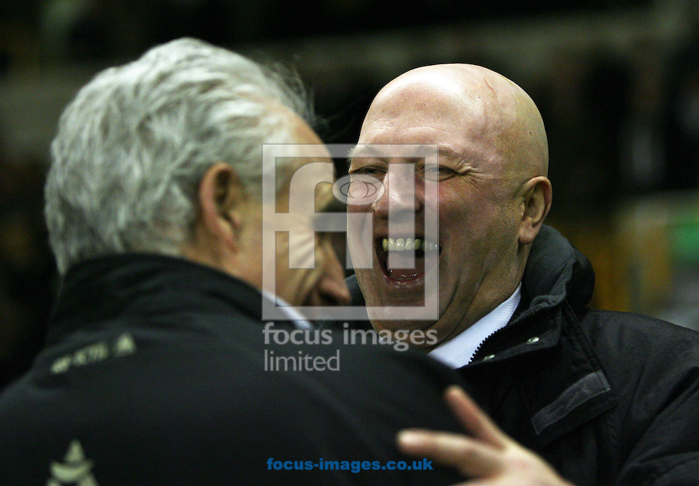 Wolverhampton - Tuesday February 3rd, 2009: Bryan Gunn, manager of Norwich City and Mick McCarthy of Wolverhampton Wanderers during the Coca Cola Championship match at Molineaux, Wolverhampton. (Pic by Chris Ratcliffe/Focus Images)