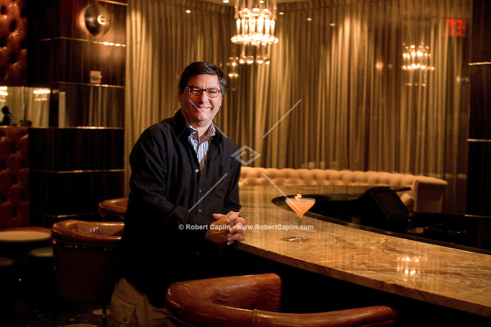 Mark Grossich poses for a portrait in the all new  Empire Room, a cocktail lounge in the Empire State Building...Photo by Robert Caplin