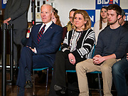 18 JANUARY 2020 - INDIANOLA, IOWA: Former Vice President JOE BIDEN waits to speak at Simpson College Saturday. About 250 people came to Simpson College to listen to Vice President talk about his reasons for running for President. Iowa hosts the first event of the presidential election cycle. The Iowa Caucuses are Feb. 3, 2020.        PHOTO BY JACK KURTZ