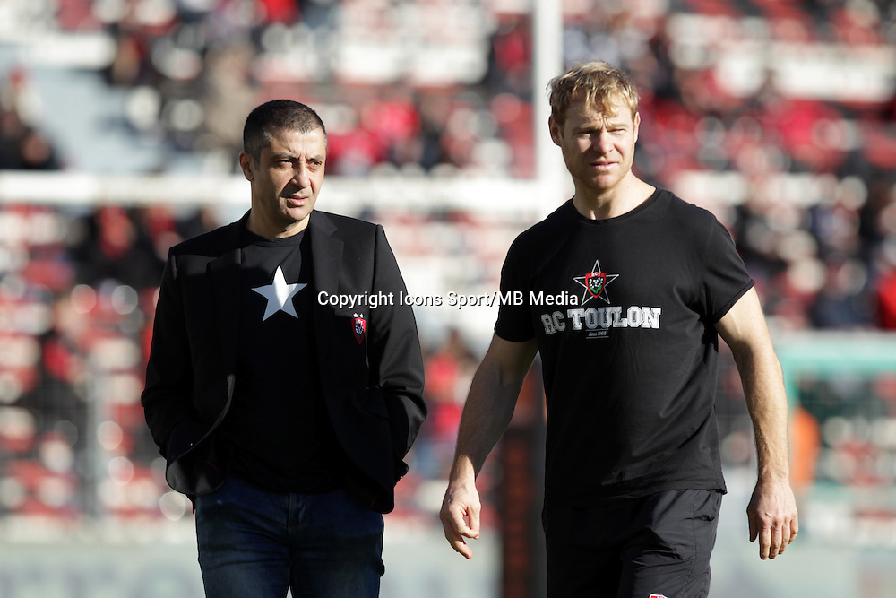 Mourad BOUDJELLAL / Tom WHITFORD - 10.01.2015 - Toulon / Racing Metro - 16e journee Top 14<br />