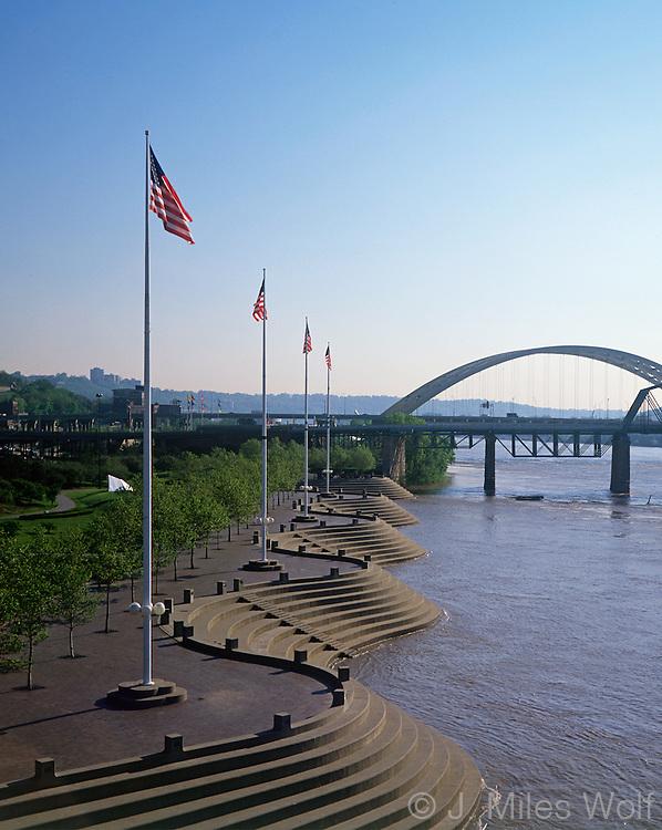 Serpentine Wall Downtown Cincinnati Riverfront