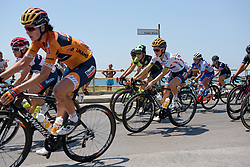 Lizzie Deignan in the bunch along the Salerno seafront on Stage 8 of the Giro Rosa - a 141.8 km road race, between Baronissi and Centola fraz. Palinuro on July 7, 2017, in Salerno, Italy. (Photo by Sean Robinson/Velofocus.com)