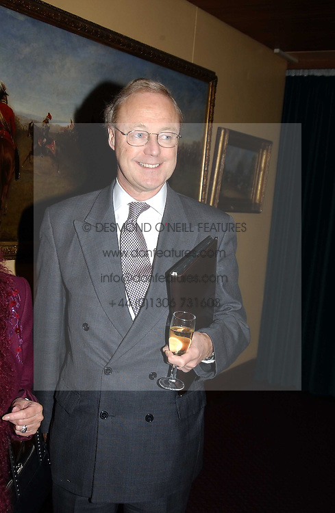NICHOLAS CHANCE private secretary of Prince Michael of Kent at a reception to support The Hyde Park Appeal held in the Officers Mess, Household Cavalry Mounted Regiment, Hype Park Barracks, Knightsbridge, London SW1 on 30th November 2004.<br /><br />NON EXCLUSIVE - WORLD RIGHTS