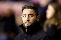 Bristol City manager Lee Johnson during the Sky Bet Championship match at the DW Stadium, Wigan.