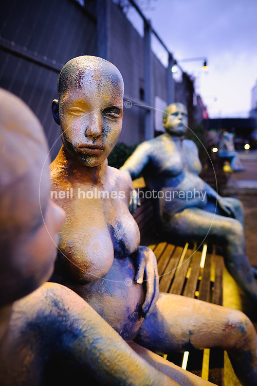 City Centre, Kingston Upon Hull, East Yorkshire, United Kingdom, 04 January, 2017. Pictured: City of Culture, Made in Hull, Ala Lloyd's Shop mannequins, Scale Lane Staith