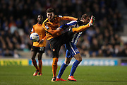 Wolverhampton Wanderers defender Matt Doherty (2) during the EFL Sky Bet Championship match between Brighton and Hove Albion and Wolverhampton Wanderers at the American Express Community Stadium, Brighton and Hove, England on 18 October 2016.