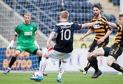 Falkirk's Craig Sibbald shoots.<br /> Falkirk 3 v 1 Alloa Athletic, Scottish Championship game played today at The Falkirk Stadium.<br /> &copy; Michael Schofield.