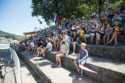 Fans  during the Kayak Single (K1) Men Final race of 2019 ICF Canoe Slalom World Cup 4, on June 30, 2019 in Tacen, Ljubljana, Slovenia. Photo by Sasa Pahic Szabo / Sportida