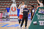 DESCRIZIONE : Campionato 2015/16 Serie A Beko Dinamo Banco di Sardegna Sassari - Grissin Bon Reggio Emilia<br /> GIOCATORE : Achille Polonara Matteo Boccolini<br /> CATEGORIA : Before Pregame Ritratto Fair Play<br /> EVENTO : LegaBasket Serie A Beko 2015/2016<br /> GARA : Dinamo Banco di Sardegna Sassari - Grissin Bon Reggio Emilia<br /> DATA : 23/12/2015<br /> SPORT : Pallacanestro <br /> AUTORE : Agenzia Ciamillo-Castoria/C.Atzori