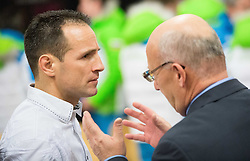 Tomaz Barada and Bogdan Gabrovec during presentation of Slovenian Young Athletes before departure to EYOF (European Youth Olympic Festival) in Vorarlberg and Liechtenstein, on January 21, 2015 in Bled, Slovenia. Photo by Vid Ponikvar / Sportida