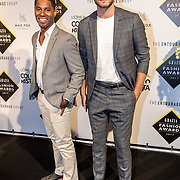 NLD/Amsterdam/20170829 - Grazia Fashion Awards 2017, Urvin Monte en Jim Bakkum