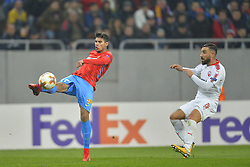 November 2, 2017 - Bucharest, Romania - FCSB's Florinel Coman in action against Hapoel Beer Sheva's For Elo during the UEFA Europa League group G football match Steaua Bucharest FCSB v Hapoel Beer-Sheva FC in Bucharest, Romania on November 2, 2017. (Credit Image: © Alex Nicodim/NurPhoto via ZUMA Press)