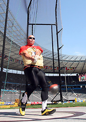 Markus Esser of Germany competes in the men's Hammer Throw qualifying event of the 2009 IAAF Athletics World Championships on August 15, 2009 in Berlin, Germany. (Photo by Vid Ponikvar / Sportida)