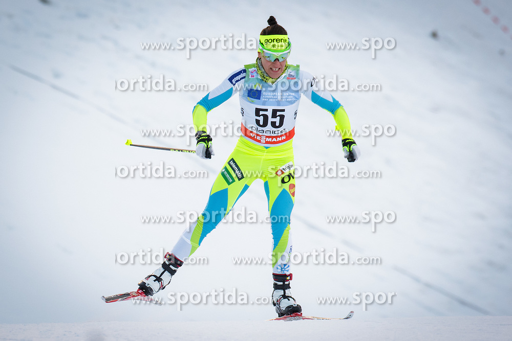 Barbara Jezersek (SLO) during Ladies 1.2 km Free Sprint Qualification race at FIS Cross<br /> Country World Cup Planica 2016, on January 16, 2016 at Planica,Slovenia. Photo by Ziga Zupan / Sportida