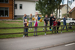 Spectators celebrate the arrival of the peloton in the Crescent Vargarda - a 152 km road race, starting and finishing in Vargarda on August 13, 2017, in Vastra Gotaland, Sweden. (Photo by Balint Hamvas/Velofocus.com)