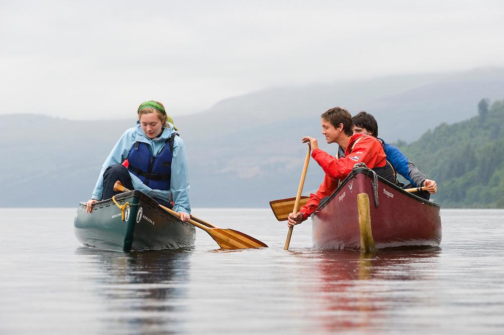 Canoeists on Loch Tay, Scotland