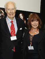 Sir George Martin CBE and Lesley-Anne Jones. The BRIT School Industry Day, Croydon, London..Thursday, Sept.22, 2011 (John Marshall JME)