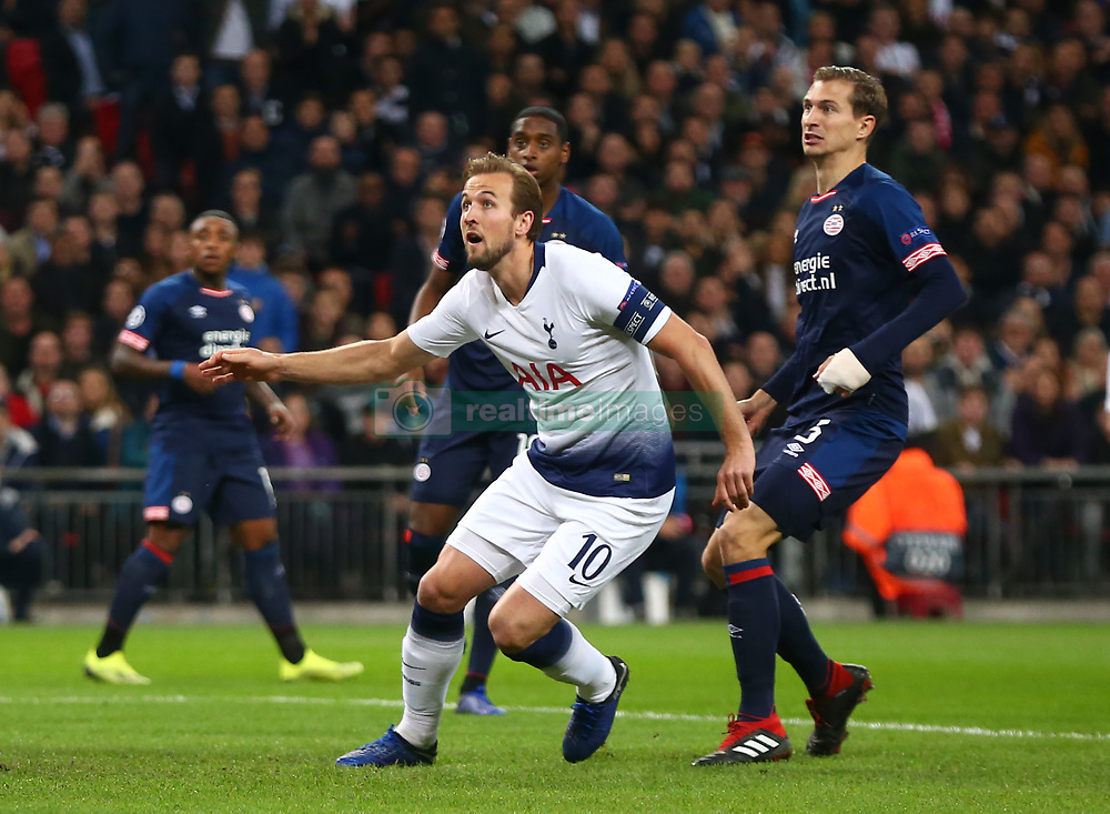 November 6, 2018 - London, England, United Kingdom - London, England - November 06, 2018.Tottenham Hotspur's Harry Kane.during Champion League Group B between Tottenham Hotspur and PSV Eindhoven at Wembley stadium , London, England on 06 Nov 2018. (Credit Image: © Action Foto Sport/NurPhoto via ZUMA Press)