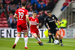 Jack Grealish of Aston Villa takes on Muhamed Besic of Middlesbrough - Mandatory by-line: Robbie Stephenson/JMP - 12/05/2018 - FOOTBALL - Riverside Stadium - Middlesbrough, England - Middlesbrough v Aston Villa - Sky Bet Championship