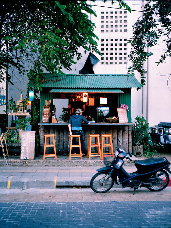 Streetside bar inside the old town