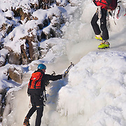 Ice Climbing - Grey Mare's Tail on the Border between Dumfries & Galloway and the Scottish Borders. Taken December 2010.