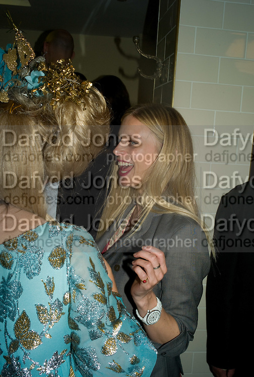 KATRINE BOORMAN AND  LAURA BAILEY, book launch for 'Private Collection' by Danny Moynihan. Hix Oyster and Chop House. Cowcross st. London. 12 June 2008.  *** Local Caption *** -DO NOT ARCHIVE-© Copyright Photograph by Dafydd Jones. 248 Clapham Rd. London SW9 0PZ. Tel 0207 820 0771. www.dafjones.com.