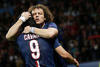 David Luiz (psg) - but - joie, Edinson Cavani (psg)