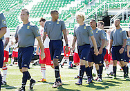 September 11, 2016: The OKC Police Department and OKC Fire Department play an exhibition match prior to the OKC Energy FC match at Taft Stadium in Oklahoma City, Oklahoma.