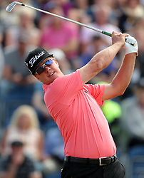USA's Charley Hoffman tees off the 3rd during day three of The Open Championship 2018 at Carnoustie Golf Links, Angus.
