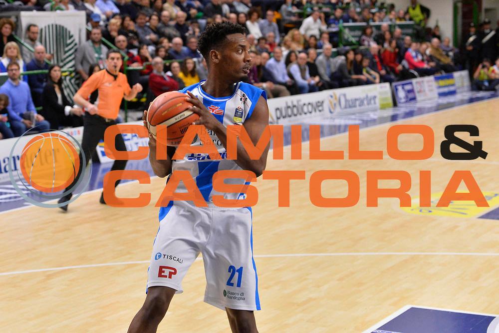 SASSARI 07 GENNAIO 2018<br /> Banco di Sardegna Dinamo Sassari - Dolomiti Energia Aquila Trento<br /> Legabasket Serie A LBA PosteMobile 2017/2018<br /> NELLA FOTO Dyshawn Pierre<br /> FOTO CIAMILLO - Luigi Canu