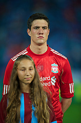 TRABZON, TURKEY - Thursday, August 26, 2010: Liverpool's Martin Kelly before the UEFA Europa League Play-Off 2nd Leg match against Trabzonspor at the Huseyin Avni Aker Stadium. (Pic by: David Rawcliffe/Propaganda)