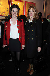 Left to right, LADY LAURA CATHCART and EMMA WIGGIN at the opening of Jade Jagger's shop at 43 All Saints Road, London W11 on 25th November 2009.