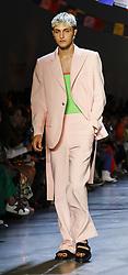 September 9, 2018 - New York, New York, United States - Anwar Hadid walks runway for the Prabal Gurung Spring/Summer 2019 runway show during New York Fashion Week at Spring Studios, Manhattan (Credit Image: © Sam Aronov/Pacific Press via ZUMA Wire)