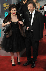 Helena Bonham Carter with her director partner Tim Burton. arrives at the British Academy Film Awards, The Royal Opera House, Bow Street, London, UK, Sunday February 10, 2013. Photo by Andrew Parsons / i-Images