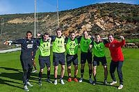 ESTEPONA - 06-01-2016, AZ in Spanje 6 januari, AZ speler Gino Coutinho, AZ speler Thomas Ouwejan, AZ speler Ben Rienstra, AZ speler Vincent Janssen, AZ speler Ron Vlaar, AZ speler Markus Henriksen, Nick van Aart.