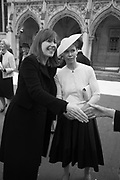 Christabel Holland ( McEwen ); Lady Sarah Chatto, Service of thanksgiving for  Lord Snowdon, St. Margaret's Westminster. London. 7 April 2017