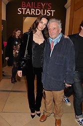 DAVID BAILEY and CATHERINE BAILEY at a private view of photographs by David Bailey entitled 'Bailey's Stardust' at the National Portrait Gallery, St.Martin's Place, London on 3rd February 2014.