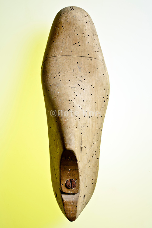 wooden shoemakers shoe form mold