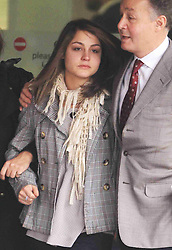 Katherine Goldberg leaving Isleworth Crown Court, West London, Monday, 28th November 2011 after being  sentenced for groping a male air steward and being drunk on an aircraft .   Photo by:  i-Images